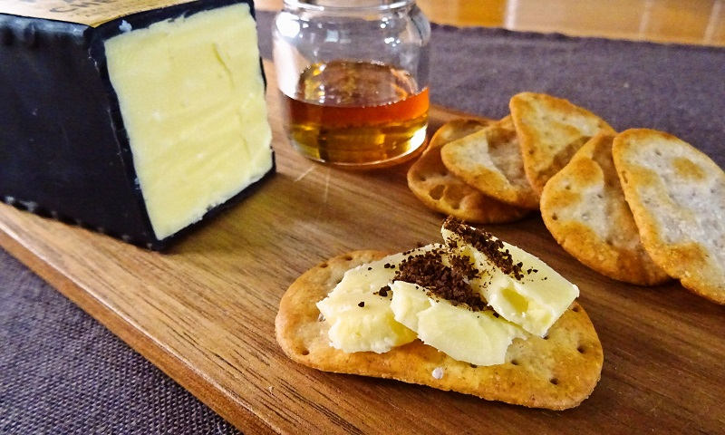 Cheese with Coffee and Honey