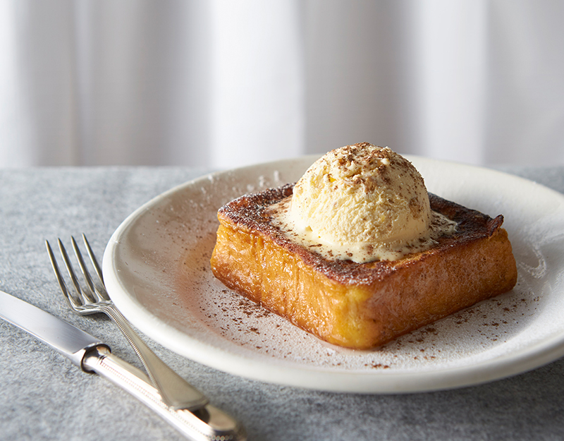French Toast with Gingernut Ice Cream